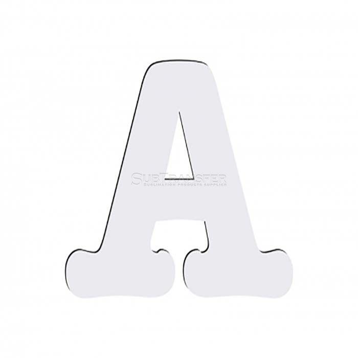 Sublimation Hardwood Letter A