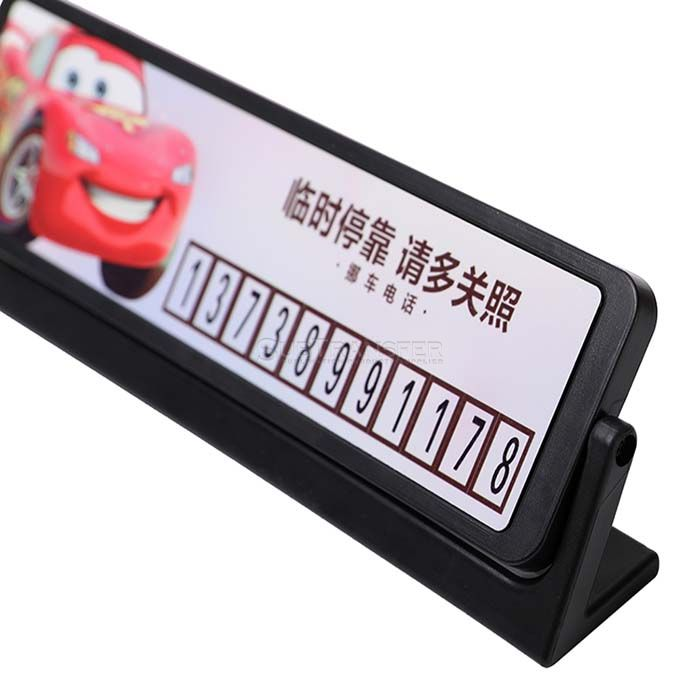 Sublimation temporary parking telephone number plate