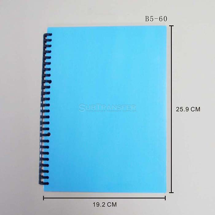 Sublimation Blank Notebook With Plastic Cover B5