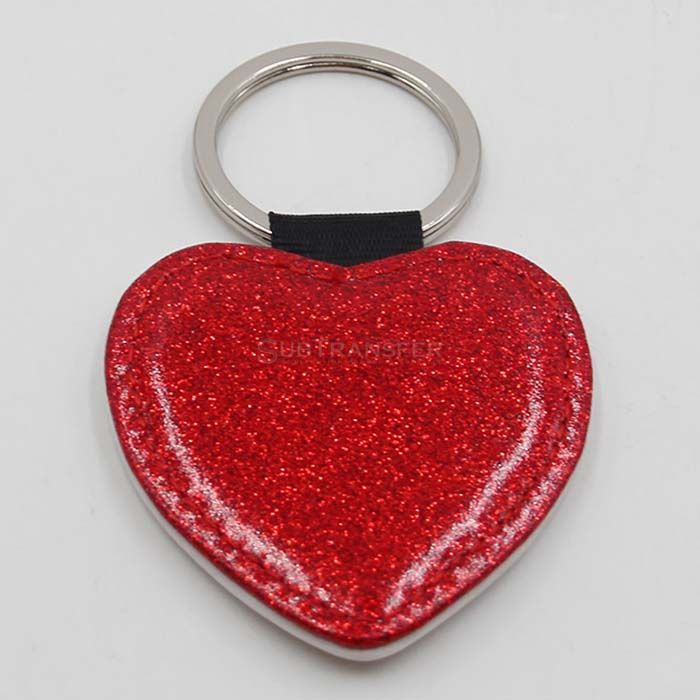 2019 New Arrival Sublimation Key ring with Sparkle