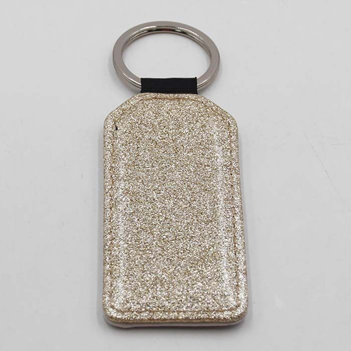 2019 New Arrival Sublimation Keychain with Sparkle