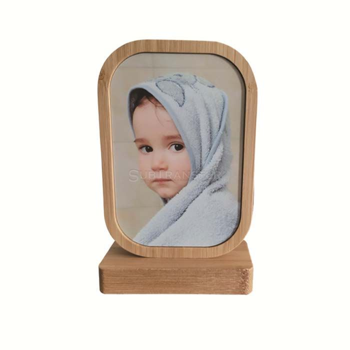 Sublimation Bamboo Photo Frame Square Shape With Round Corner