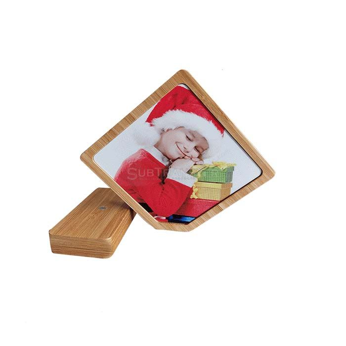 Sublimation Bamboo Photo Frame Square Shape