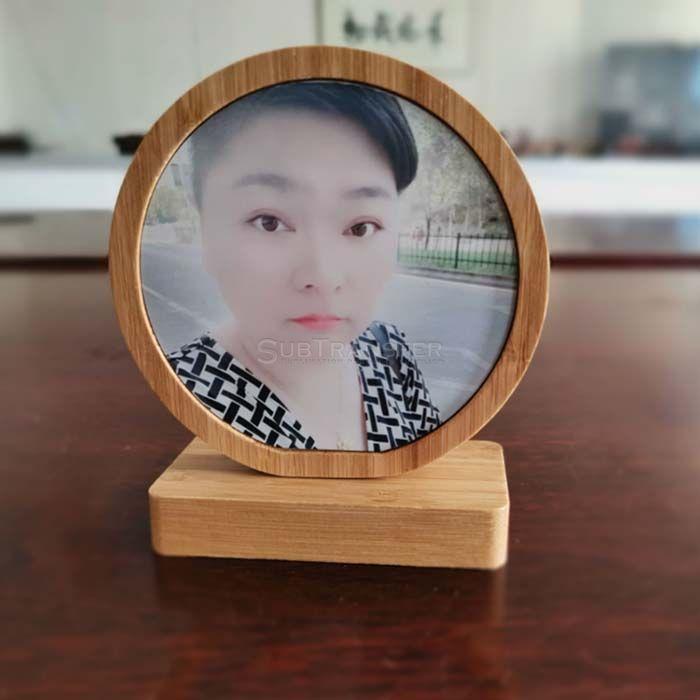 Sublimation Bamboo Photo Frame Round Shape