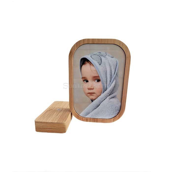 Sublimation Bamboo Photo Frame Square Shape With Round Corner